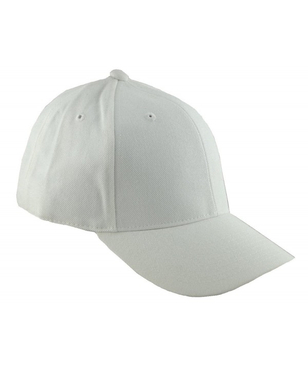 Decky Fitted Baseball Cap 7 5/8 (12 Colors) - White - CX11UF02HJJ