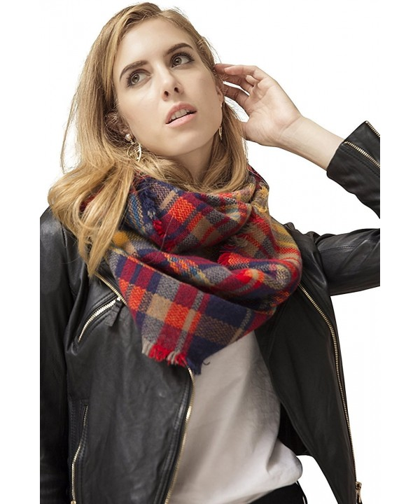Infinity Blanket Tartan SUY Yellow - Red and Yellow and Blue Infinity Scarf - CB18982T5NS