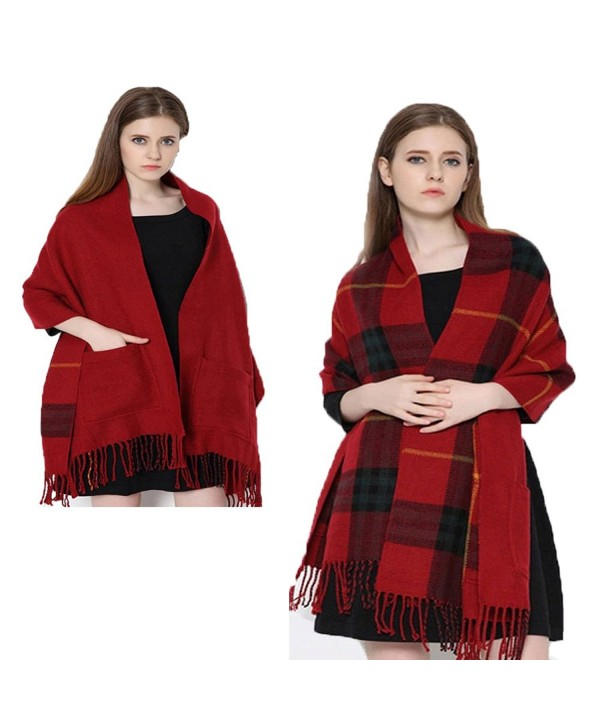 Woman Warm Soft Detailed Double Sided Fringed 100/% Cashmere Scarf Shawl Wrap