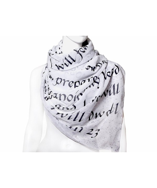THE BIBLE BOOK SCARF chiffon - CU17YLD4TLL