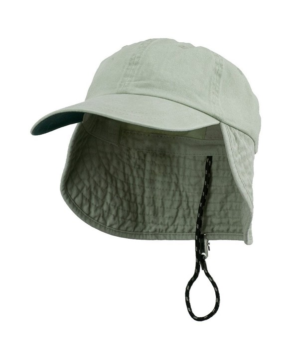 Washed Cotton Flap Hat-Putty W14S47C - CL1108HOQY3