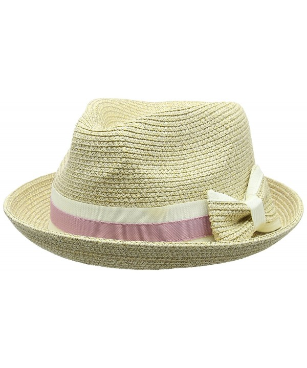 Betmar Women's Joanne Straw Fedora - Natural - CH11VZAYPY7