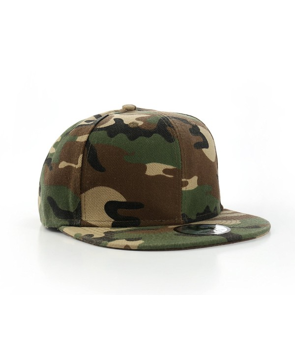 "Plain Camo / Army Fitted Flat Peak Baseball Cap 7 1/2"" - CG11678EZ61"