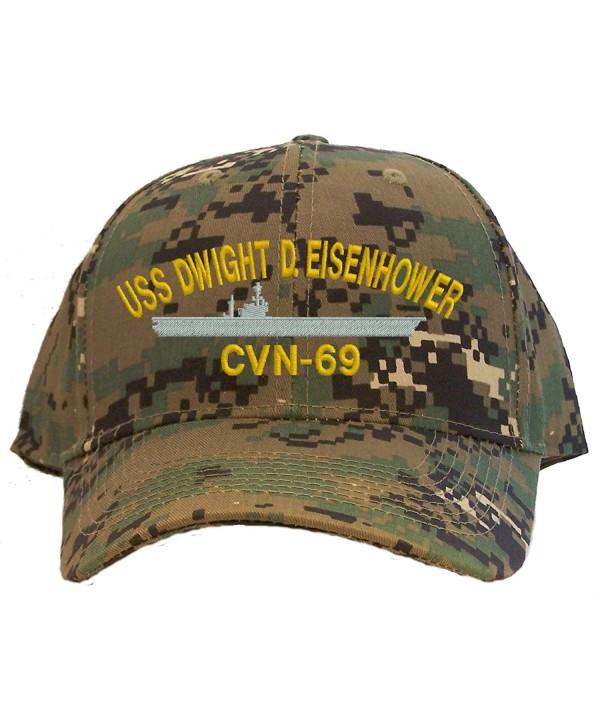 USS Dwight D. Eisenhower CVN-69 Embroidered Baseball Cap - Digital Camo - C911EUA5FIJ