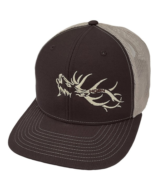 Horn Gear Trucker Hat - Hunters Series - Elk Edition - Brown/Khaki - CB180S6UKOQ