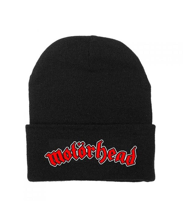 Motorhead Logo Fold Cuff Beanie Knit Hat Cap - C7182Y02GIQ