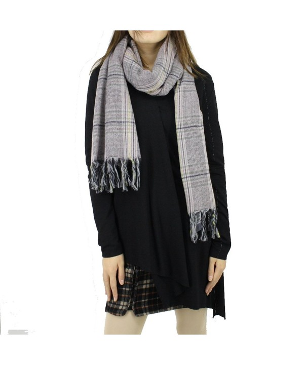 BENANCY Women's Plaid Scarf Long Scarves Warm Tartan Blanket Wrap Shawl - 58360 Light Pink - CG189Z5RUHE