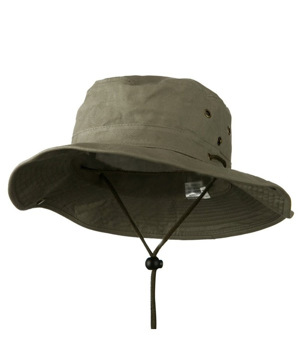 Extra Big Size Brushed Twill Aussie Hats - Olive (For Big Head) - CH11M5D8Y19