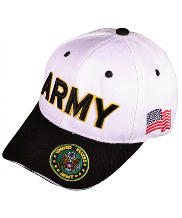 Buy Caps and Hats U.S. Army Veteran Military Baseball Cap Mens One Size White - CU11WELEP51