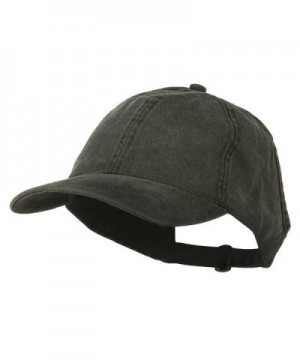 Ladies Washed Cotton Ponytail Cap - Black - C311M6K9C3P