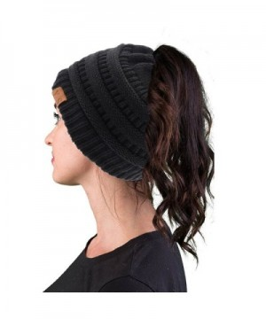 VANGAY Beanie Womens Stretch Ponytail in Women's Skullies & Beanies