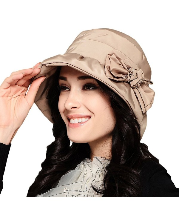 Maitose Women's Waterproof Windproof Bucket Hat - Beige - C1126NODMXP