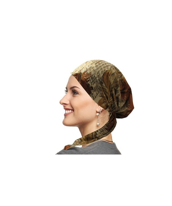 Ahead Collection Pretied Bandana Chemo Scarf - Rust Feathers - C9125R259AH