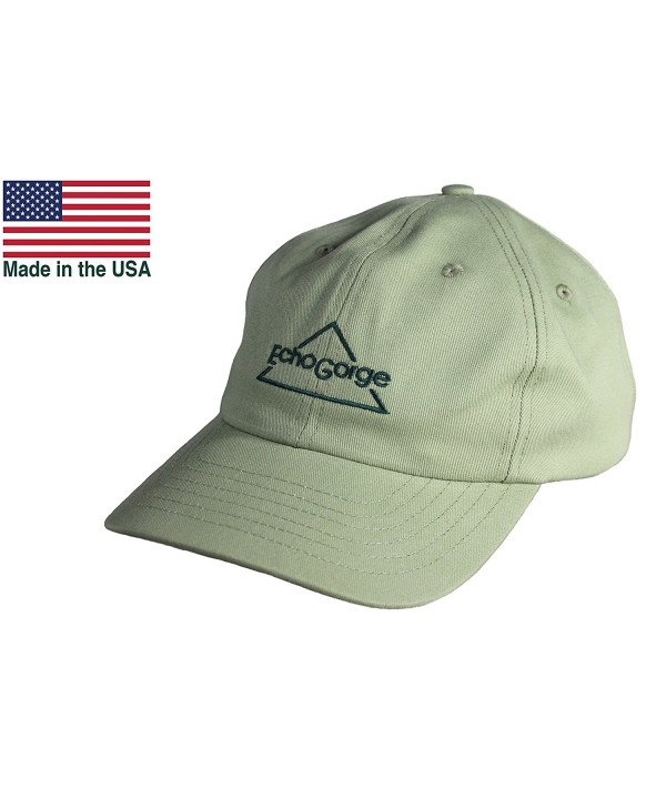 EchoGorge Unisex Twill Ball Cap. Made in the USA - C112NRJJBO9
