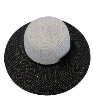 Two Tone Black White Shimmery Sun in Women's Sun Hats