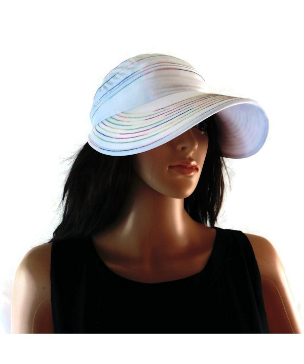 "ModaMoo Womens Nanotechnology ""Rainbow"" Waterproof & UPF 50+ Hat & Visor Designed in NY - C812H8QY2MR"