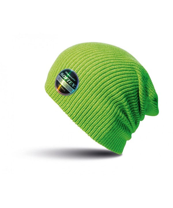 Result Winter Essentials Core Softex Beanie Hat - Lime - CV12MAO5JUP