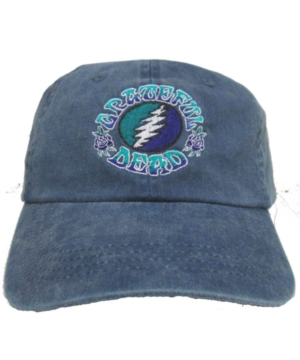 Grateful Dead Bolt Embroidered Baseball Cap - CD129LRWZ8T