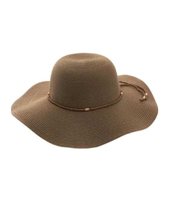 G Women's Toyo Braid Floppy Hat - Brown - CQ1217YFPXB