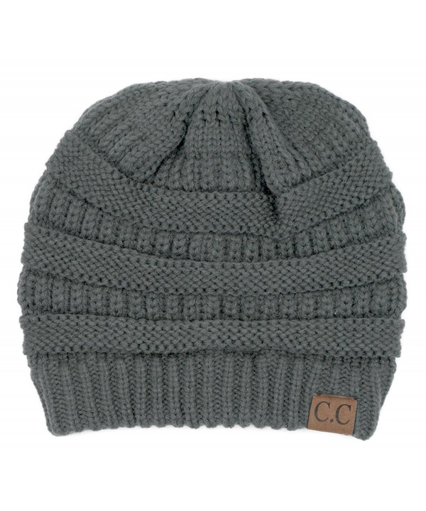 Hatsandscarf CC Exclusives Unisex Soft Stretch Fuzzy Lined Beanie Hat (HAT-25) - Lt. Mel Grey - C2189O7ZWHI