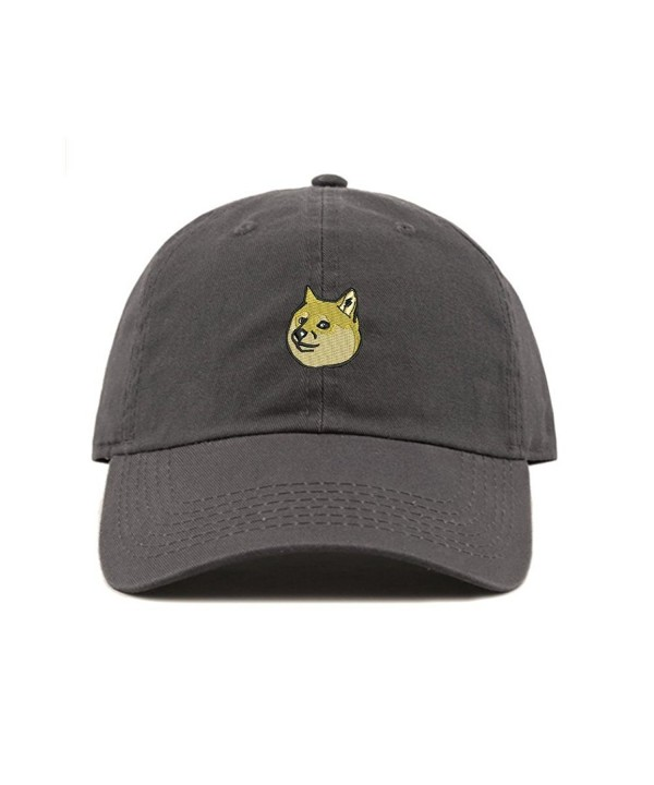 ChoKoLids Doge Dad Hat Cotton Baseball Cap Beanie Polo Style Low Profile Ski Hat - Charcoal - CS185S87444