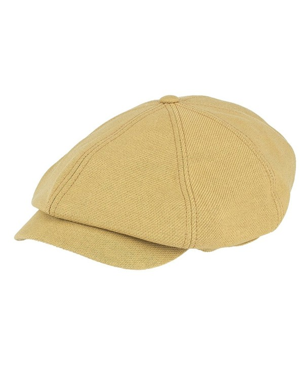 NTC TNC Men and Women's newsboy Gatsby IVY Cap Golf Cabbie Driving Hat Mustard - C312EALR9TP