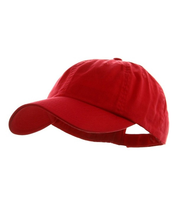 Wholesale Low Profile Dyed Soft Hand Feel Cotton Twill Caps Hats (Red) - 21204 - CJ112GBW5BZ