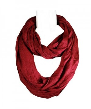 Wrapables Lightweight Silky Infinity Burgundy in Fashion Scarves