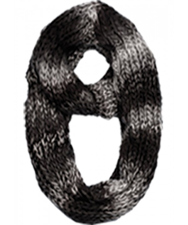 Sakkas Life is Beautiful Knit Infinity Scarf - Ombre Black - CE11Q2RXJ8H