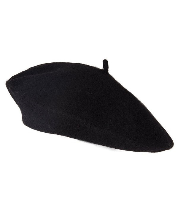 TopHeadwear Wool Blend French Bohemian Beret - Black - CW11B3FCZL5