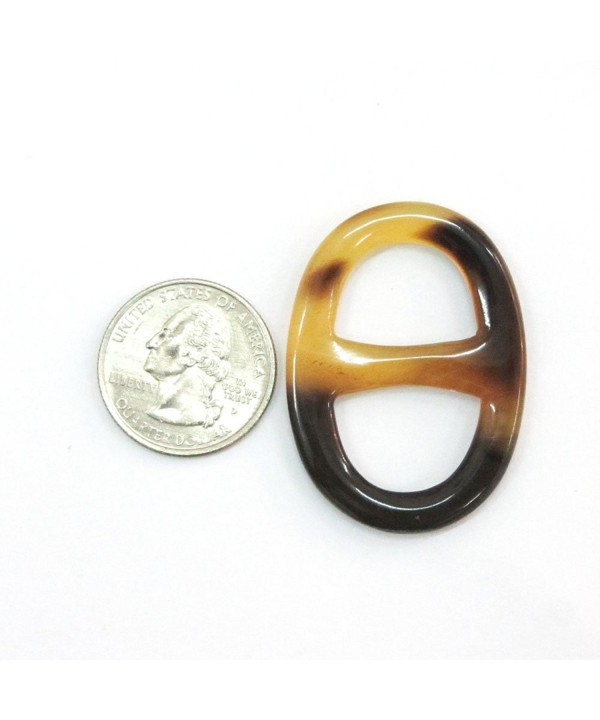 Marycrafts Size 3 Buffalo Horn Twilly Scarf Ring Scarf Clip Scarf Slides Handmade 4.5x3.1 Cm - Mix Color - C811KEBXEBJ