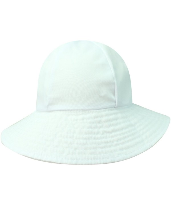 Luxury Divas Reversible Rain Or Sun Style Bucket Hat - White - CY113RSDN3Z