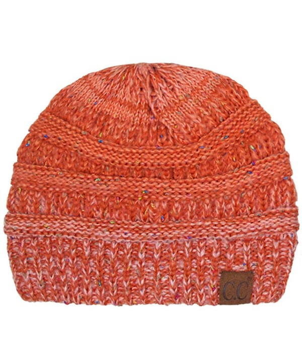 ScarvesMe Exclusive CC Ombre Knitted Beanie - Orange - CA12LH5D3DJ