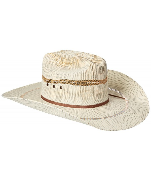 Ariat Men's 2-Tone Bangora Open Brim Cowboy Hat - Natural/Tan - CS11XEXGICB