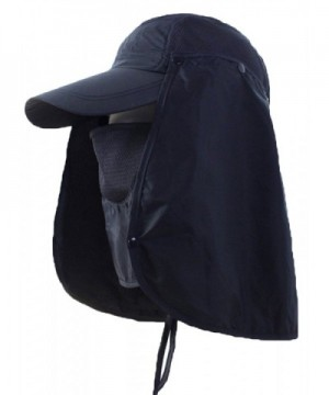 Sawadikaa Outdoor Mask Hat With Head Net Mesh Face Protection Sun Flap Cpas - Navy - C7182LU2A3L