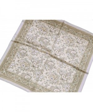 Silver Light Paisley Printed Square in Fashion Scarves