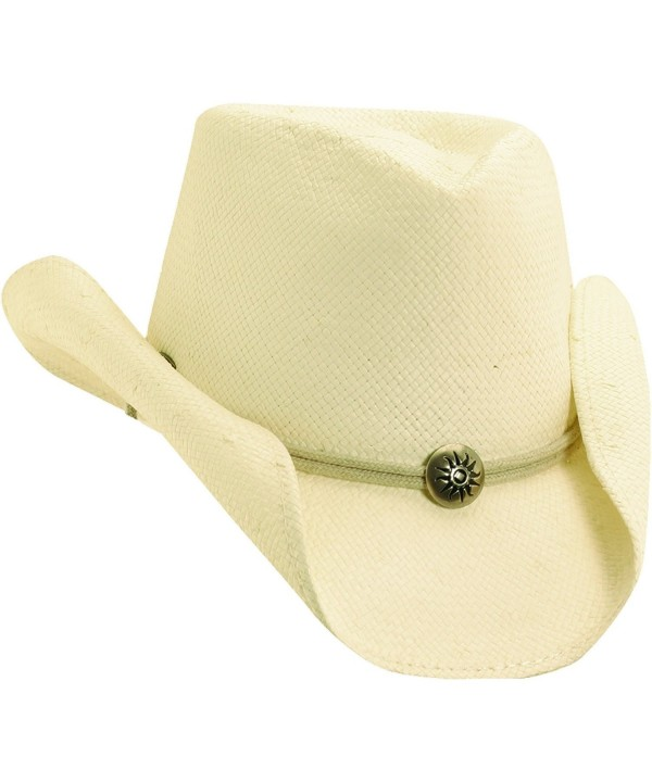 NEW SCALA WESTERN 8BU SOFT TOYO STRAW CHIN CORD NATURAL STAINED COWBOY HAT - CG11L3NKOCJ