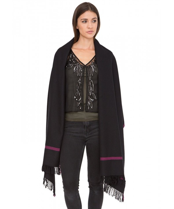 Soho Handwoven Merino Pashmina and Oversize Scarf - Black - CG12M10RV87