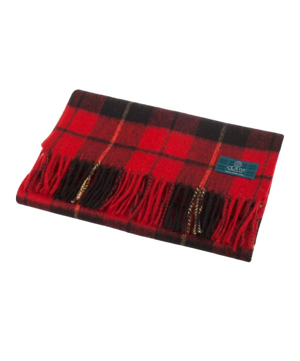 Clans Of Scotland Pure New Wool Scottish Tartan Scarf Wallace (One Size) - CX123H4DWM5