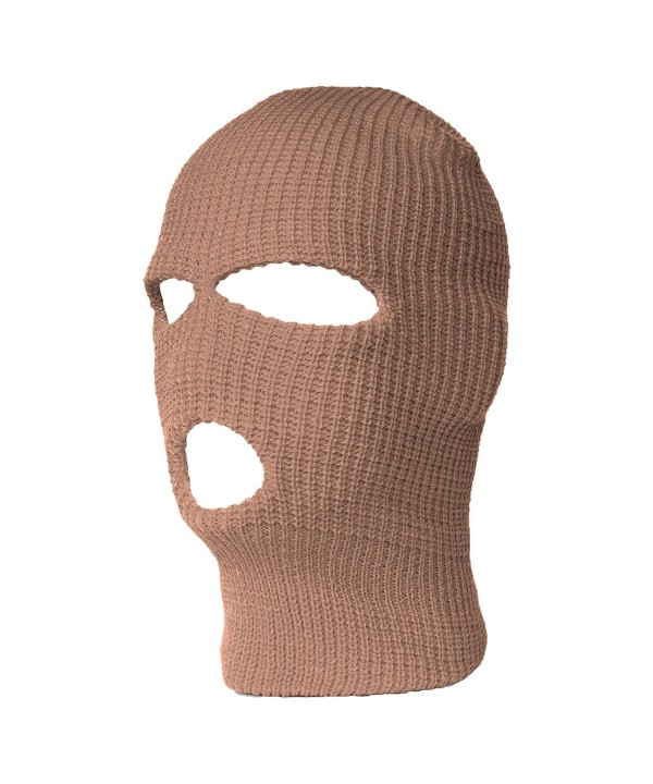 3 Hole Ski Mask Balaclava- Khaki 1pc - C4114I46U87