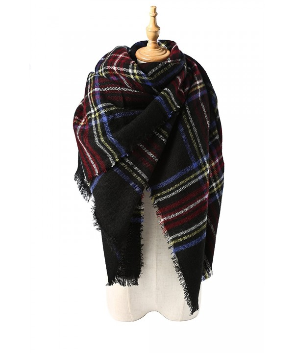 Spring Fever Stylish Warm Blanket Scarf Gorgeous Wrap Shawl - J Navy Blue - CY11TW6UWQH