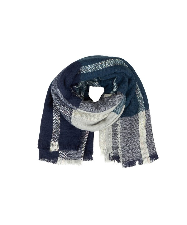 Cashmere Dreams - Womens Big and Cozy - Winter Blanket Scarf - Soft Warm Fashion Wrap - Blue - CA184SEKDAD
