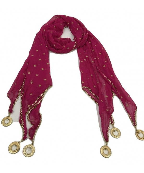 IBC Stylish Indian Dupatta Scarf Perfect Match For Kurti for New Look - Magenta - CI189AMO9IU