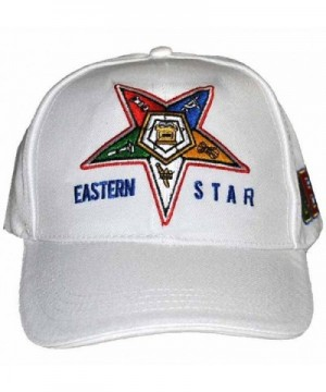 Order of The Eastern Star Womens Adjustable Cap White - CJ12NAFFTQP