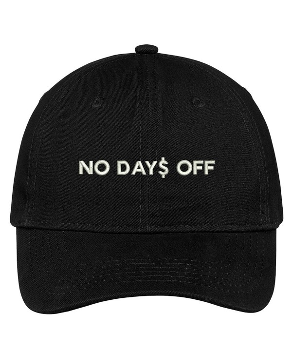 Trendy Apparel Shop No Days Off Embroidered Low Profile Soft Cotton Brushed Cap - Black - CP12O48352H