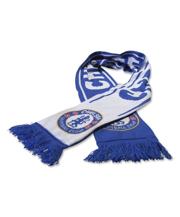 Chelsea FC Woven Winter Scarf (Reflux Blue/White) - CR11P6LXV3D