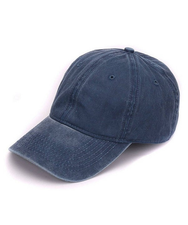 AKIZON Washed Vintage Adjustable Baseball - Navy - CK183CMCQIM