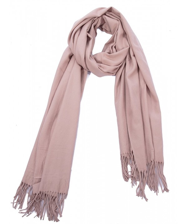 "Portola Premium Extra Soft Solid Color All Season Scarf 80""L x 25""W - Nude - C512MY12RGL"