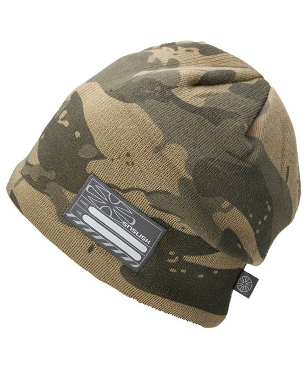 King Star Trendy Warm Chunky Camouflage Stretch Cable Knit Beanie Hat Cap - Army Green - C812N5PHLGA