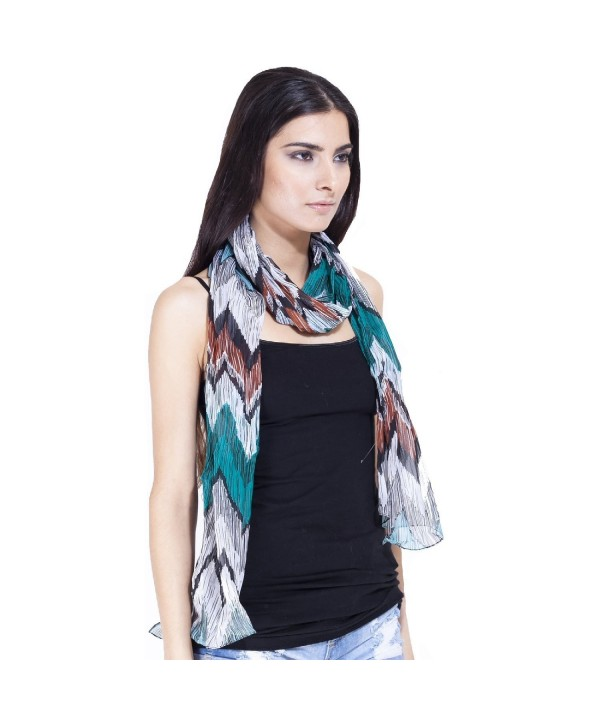 Zigzag scarf-Yellow-One size - White - CU118QWESNV